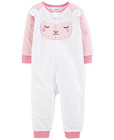 Carter's Toddler Girls Lamb Footed Pajamas
