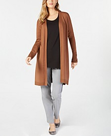 Lace-Up Cardigan, Scoop-Neck Top & Curvy-Fit Pants, Created for Macy's