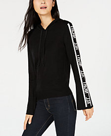 Bar III All Night Hoodie Sweater, Created for Macy's