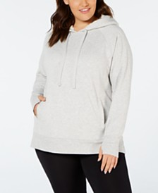 Ideology Plus Size Fleece-Lined Hoodie, Created for Macy's