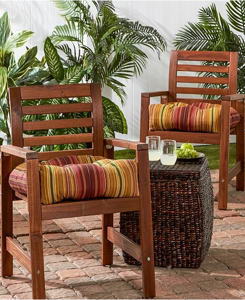 Greendale Home Fashions Set Of 2 Outdoor Chair Cushions Home Macy S