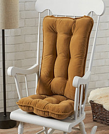 Cherokee Solid Standard Rocking Chair Cushion Set