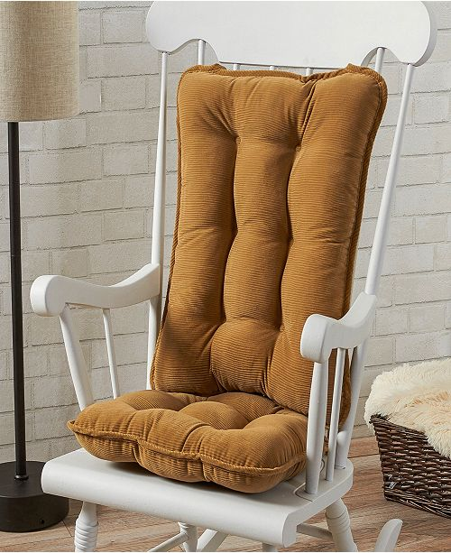 Greendale Home Fashions Cherokee Solid Standard Rocking Chair Cushion Set