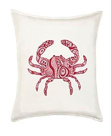 Crab Cotton Canvas Pillow
