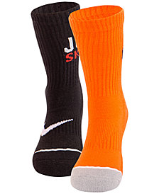 Nike Little Boys 2-Pk. Cushioned Dri-FIT Quarter Socks