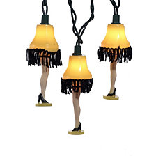 Kurt Adler UL 10 Lights Christmas Story Leg Lamp Light Set