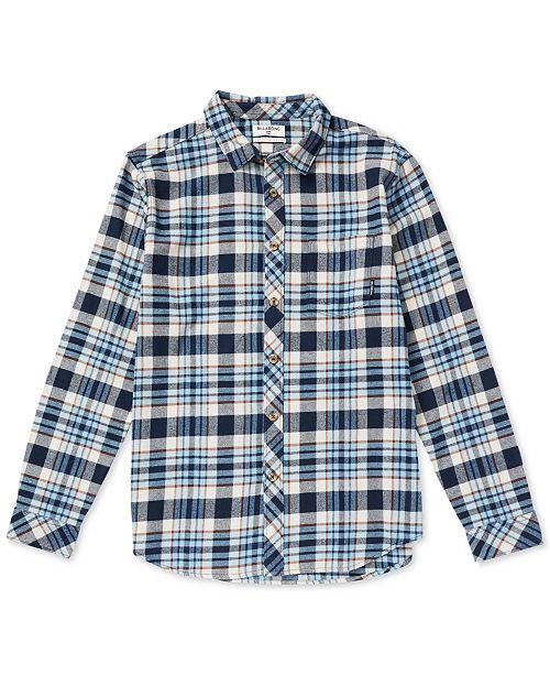 547be0d14 Billabong Big Boys Coastline Flannel Shirt - Shirts & Tees - Kids ...