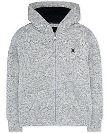 Hurley Big Boys Zip-Front Sherpa-Lined Sweatshirt