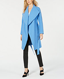 Alfani Belted Drape-Front Jacket, Created for Macy's
