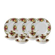 Royal Albert Old Country Roses 12-Piece Tea Entertaining Set, Created for Macy's