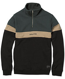 Volcom Big Boys Colorblocked Fleece Rainer Sweatshirt