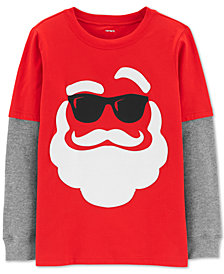 Carter's Little & Big Boys Cotton Layered-Look Holiday T-Shirt