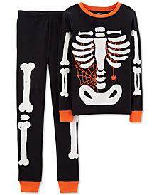 Carter's Toddler Boys 2-Pc. Snug Fit Skeleton Glow-In-The-Dark Pajamas Set