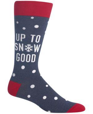 HOT SOX Men'S Snow Crew Socks in Denim Heather