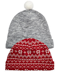 First Impressions Baby Boys 2-Pack Beanie Hats, Created for Macy's