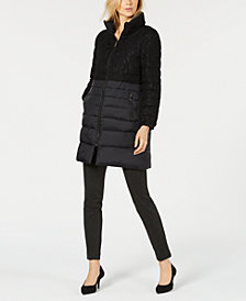 Alfani Puffer Lace Jacket, Created for Macy's