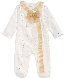 First Impressions Baby Girls Tulle Coverall, Created for Macy's