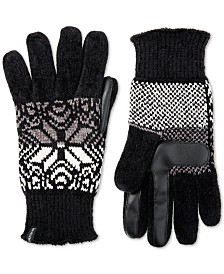 e00ba70caec Isotoner Women s Touchscreen Chenille Gloves with Snowflake Accent