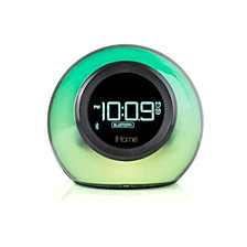 iHome Bluetooth Color Changing Dual Alarm Clock FM Radio