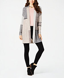 Style & Co Colorblocked Open-Front Cardigan, Created for Macy's