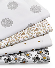 CLOSEOUT! Sanders Metallic Print 200-Thread Count 4-Pc. Sheet Sets