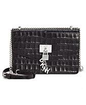 DKNY Elissa Croc Flap Shoulder Bag, Created for Macy s 37a4d67cca