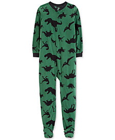Carter's Little & Big Boys 1-Pc. Dinosaur-Print Footed Pajamas