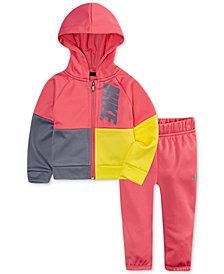 Nike Baby Girls 2-Pc. Colorblocked Hoodie & Pants Set