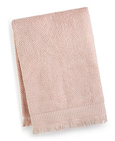 "French Connection Dorinda Cotton 30"" x 56"" Fringe Bath Towel, Created for Macy's"