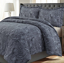 Madrid Paisley Printed Oversized Twin Duvet Cover Set