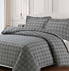 Savannah Cotton Flannel Printed Oversized Queen Duvet Set