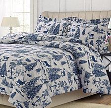 Mountain Toile Cotton Flannel Printed Oversized King Duvet Set