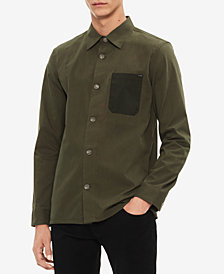 Calvin Klein Men's Contrast Pocket Shirt Jacket