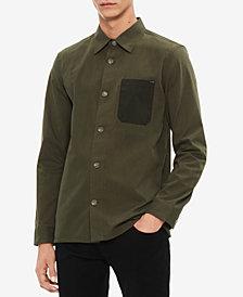 Calvin Klein Men's Contrast Pocket Shirt Jacket