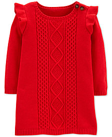 Carter's Baby Girls Cotton Cable-Knit Sweater Dress