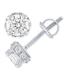 Diamond Stud Earrings ( 1/2 ct. t.w.) in 14k White Gold