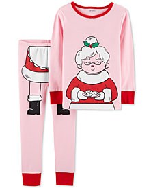 Carter's Baby Girls 2-Pc. Snug-Fit Mrs. Claus Cotton Pajamas Set