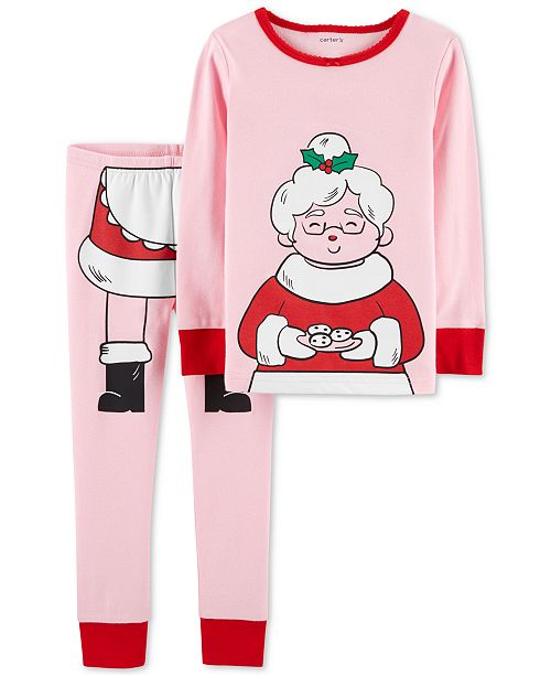 74cbc2083d ... Set  Carter s Baby Girls 2-Pc. Snug-Fit Mrs. Claus Cotton Pajamas ...