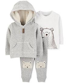 Carter's Baby Boys 3-Pc. Hoodie, T-Shirt & Jogger Pants Set