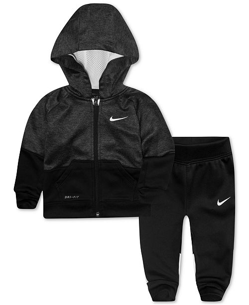 8b4af7770f Nike Baby Boys 2-Pc. Colorblocked Therma-FIT Jacket & Pants Set ...