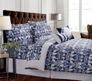 Catalina 300 Thread Count Cotton Oversized King Duvet Cover Set Bedding 6928604