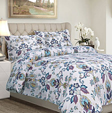 Abstract Paisley Cotton Flannel Printed Oversized King Duvet Set