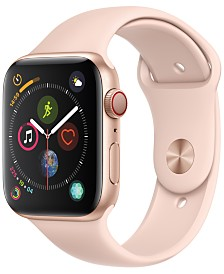 Apple Watch Series 4 GPS + Cellular, 44mm Gold Aluminum Case with Pink Sand Sport Band