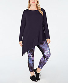 Ideology Plus Size Asymmetrical Top, Created for Macy's