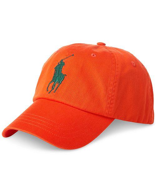 66166662 Polo Ralph Lauren Men's Big Pony Cap; Polo Ralph Lauren Men's Big Pony ...