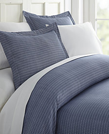 Home Collection Premium Ultra Soft Blue Diamond Pattern 3 Piece Duvet Cover Set
