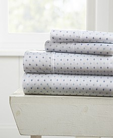The Boho & Beyond Premium Ultra Soft Pattern 4 Piece Bed Sheet Set by Home Collection - Queen