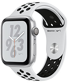 AppleWatch Nike+ Series4 GPS, 44mm Silver Aluminum Case with Pure Platinum Black Nike Sport Band
