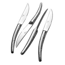 Argent Orfèvres  Hampton Forge Willow 4 Piece  Forged Steak  Knife Set