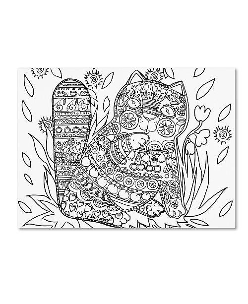 "Trademark Global Oxana Ziaka 'Deco Cat 2' Canvas Art - 19"" x 14"" x 2"""